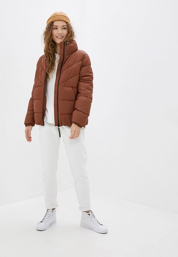 Фото 2 - Куртку утепленная Tom Tailor Denim коричневого цвета