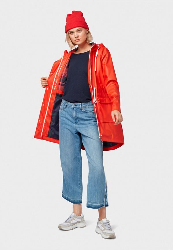 Фото 2 - женское пальто или плащ Tom Tailor Denim красного цвета