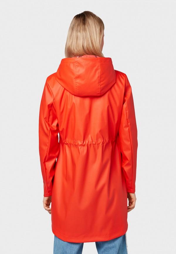 Фото 3 - женское пальто или плащ Tom Tailor Denim красного цвета