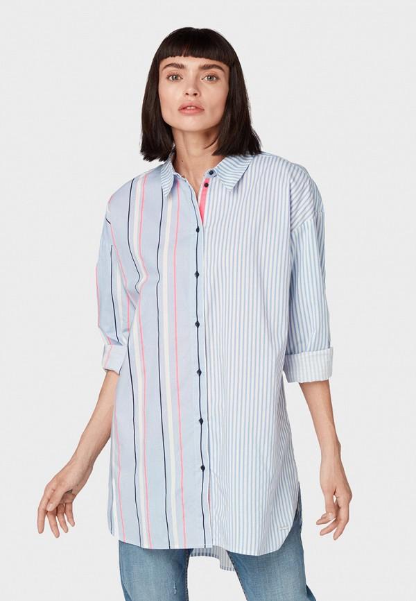 Рубашка Tom Tailor Denim Tom Tailor Denim TO793EWGBPB3 рубашка мужская tom tailor denim цвет голубой белый светло серый 2033793 00 12 6695 размер m 48
