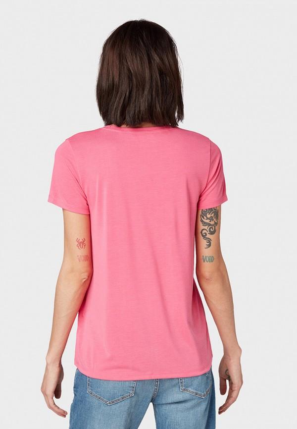 Фото 3 - женскую футболку Tom Tailor Denim розового цвета