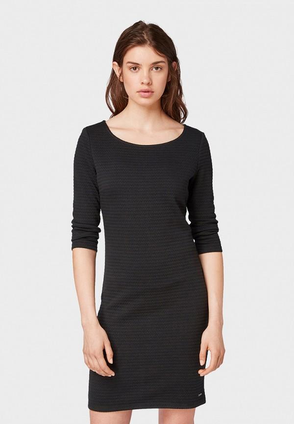 женское платье-футляр tom tailor, серое