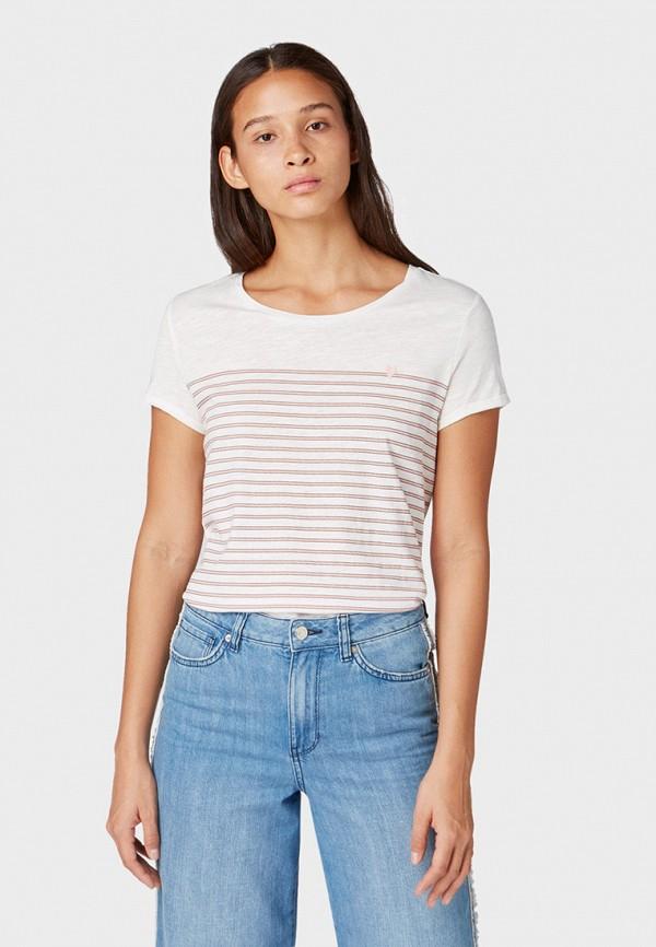 Фото - женскую футболку Tom Tailor Denim белого цвета