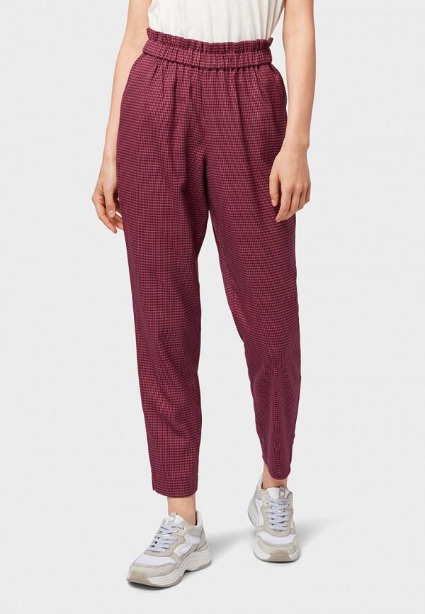 женские брюки tom tailor, бордовые