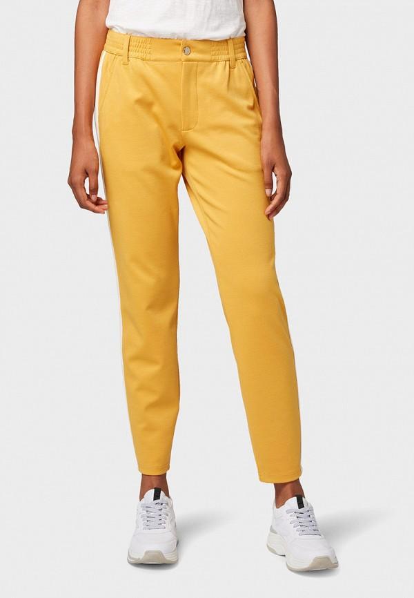 женские брюки tom tailor, желтые