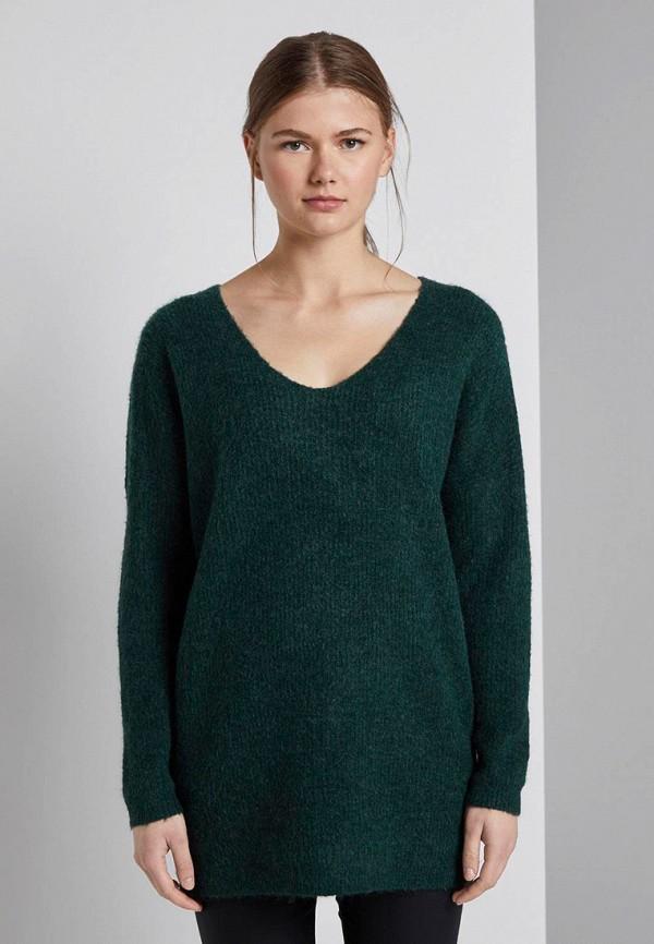 женский пуловер tom tailor, зеленый