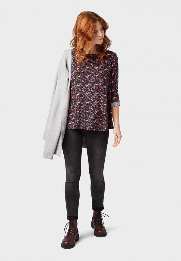 Фото 2 - женскую блузку Tom Tailor Denim разноцветного цвета