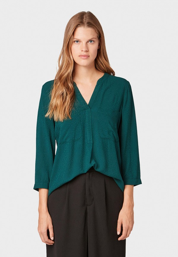 лучшая цена Блуза Tom Tailor Denim Tom Tailor Denim TO793EWGSHK4