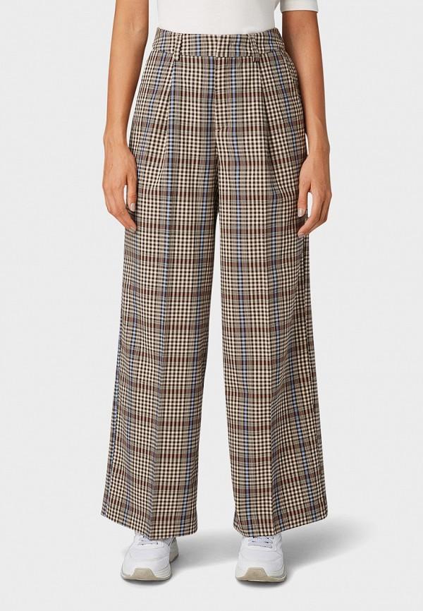 женские повседневные брюки tom tailor, бежевые