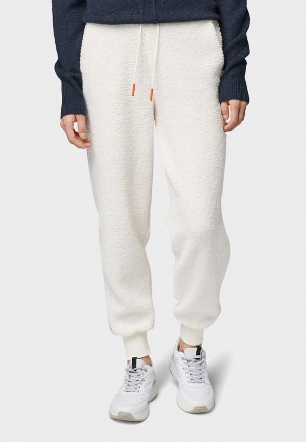 женские спортивные брюки tom tailor, белые