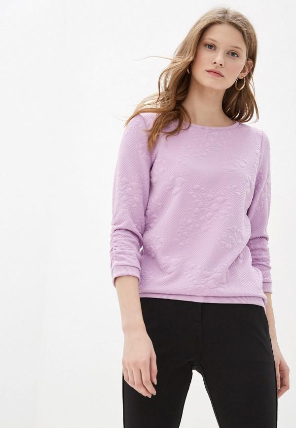 женский свитшот tom tailor, фиолетовый