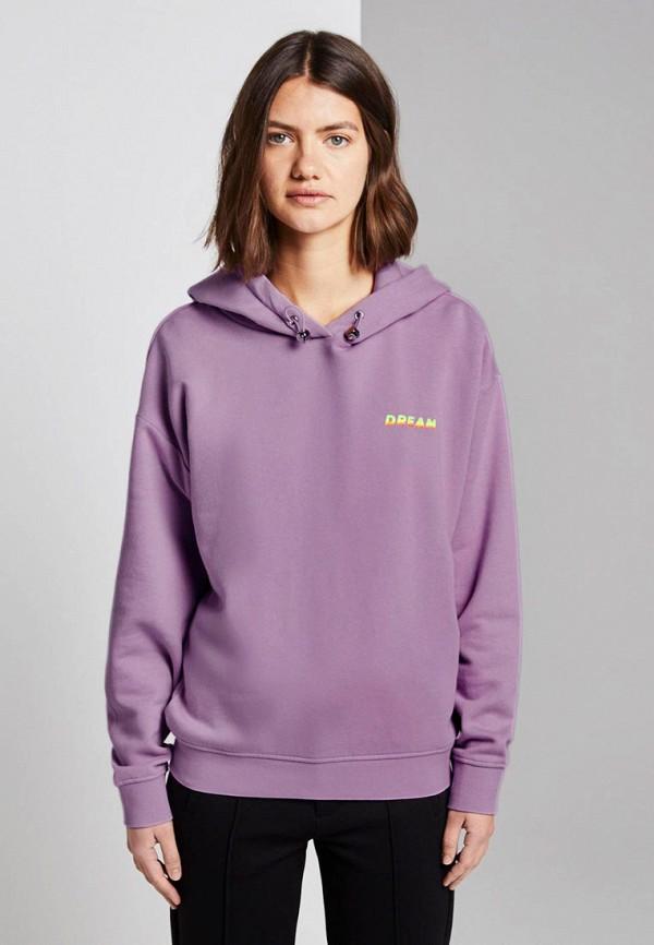 женские худи tom tailor, фиолетовые