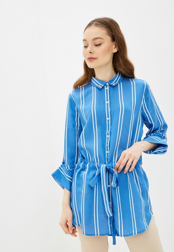 женская туника tom tailor, синяя