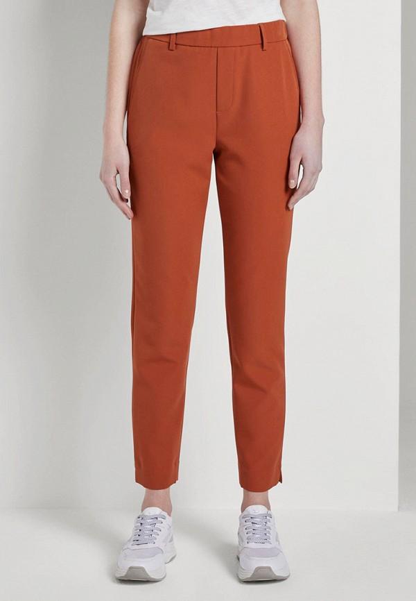 женские повседневные брюки tom tailor, оранжевые