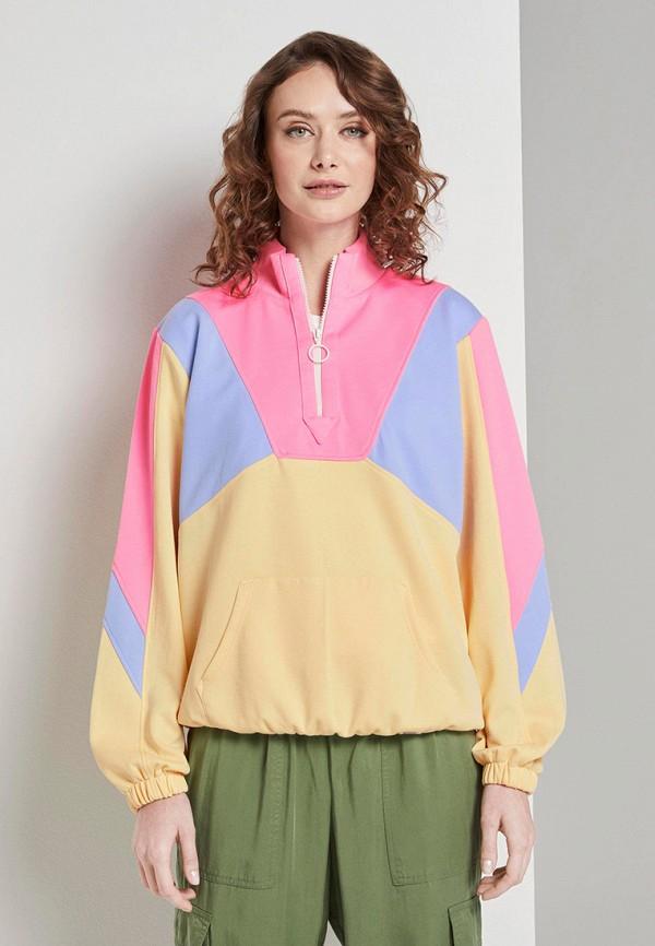 женская олимпийка tom tailor, разноцветная