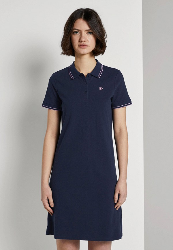 женское платье tom tailor, синее