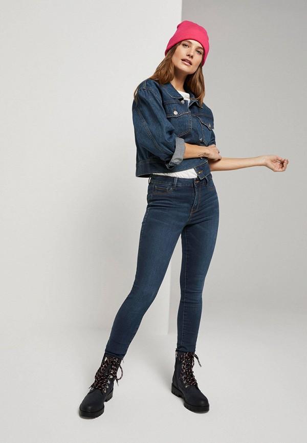Фото 2 - Куртку джинсовая Tom Tailor Denim синего цвета