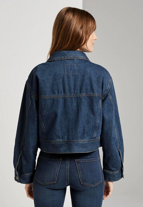 Фото 3 - Куртку джинсовая Tom Tailor Denim синего цвета