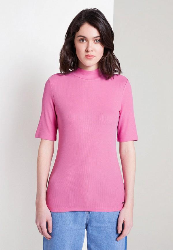 женская водолазка tom tailor, розовая