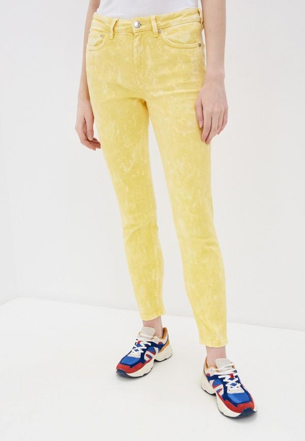 женские повседневные брюки tom tailor, желтые