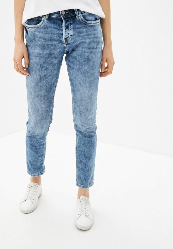 женские джинсы бойфренд tom tailor, голубые