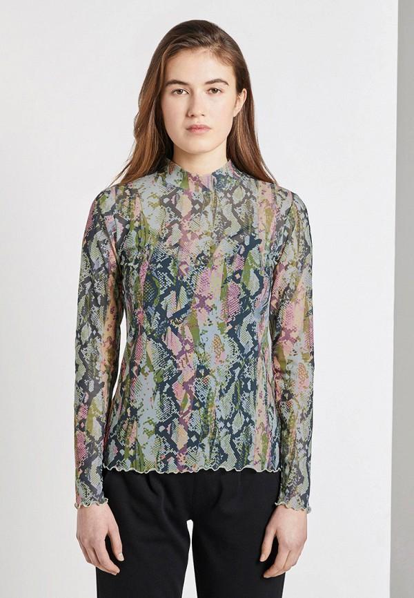 женская блузка с длинным рукавом tom tailor, серая