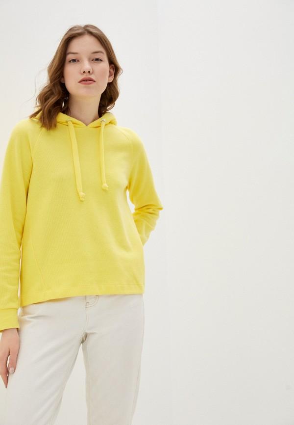 женские худи tom tailor, желтые