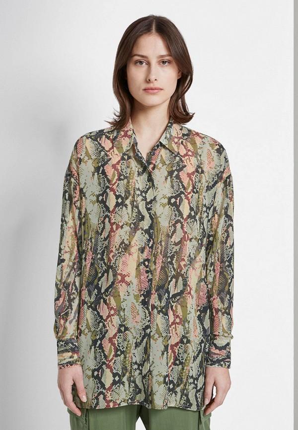 женская рубашка с длинным рукавом tom tailor, зеленая