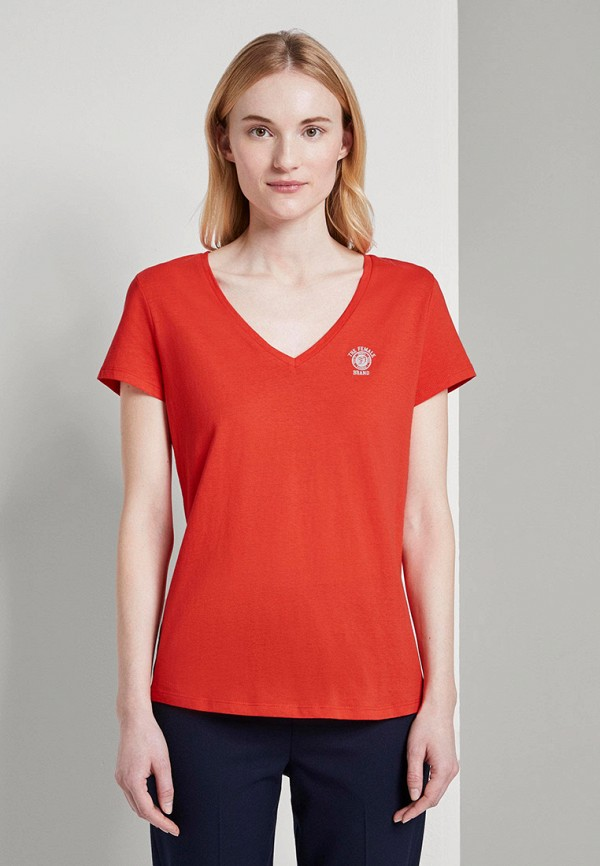 женская спортивные футболка tom tailor, желтая
