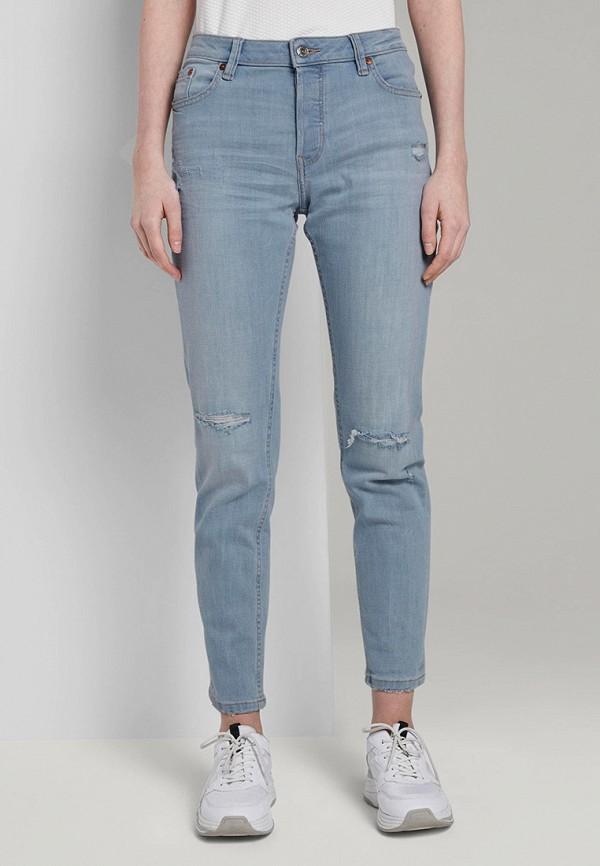 женские джинсы скинни tom tailor, голубые