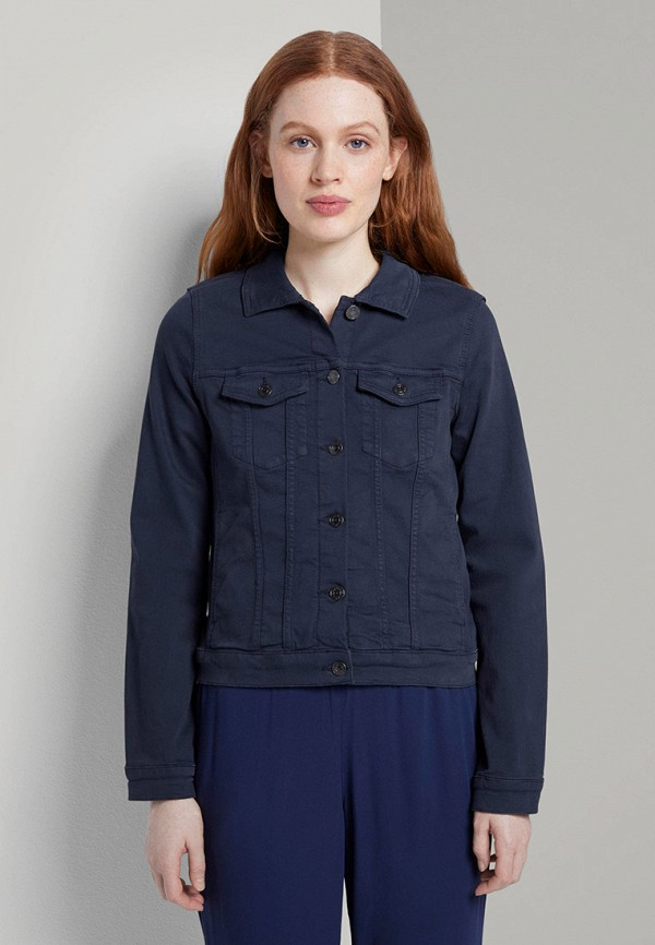 женская джинсовые куртка tom tailor, синяя