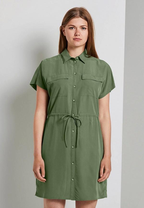 женское платье tom tailor, зеленое