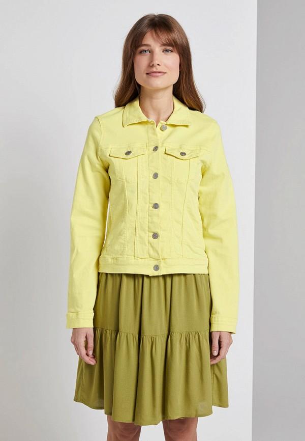 женская легкие куртка tom tailor, желтая