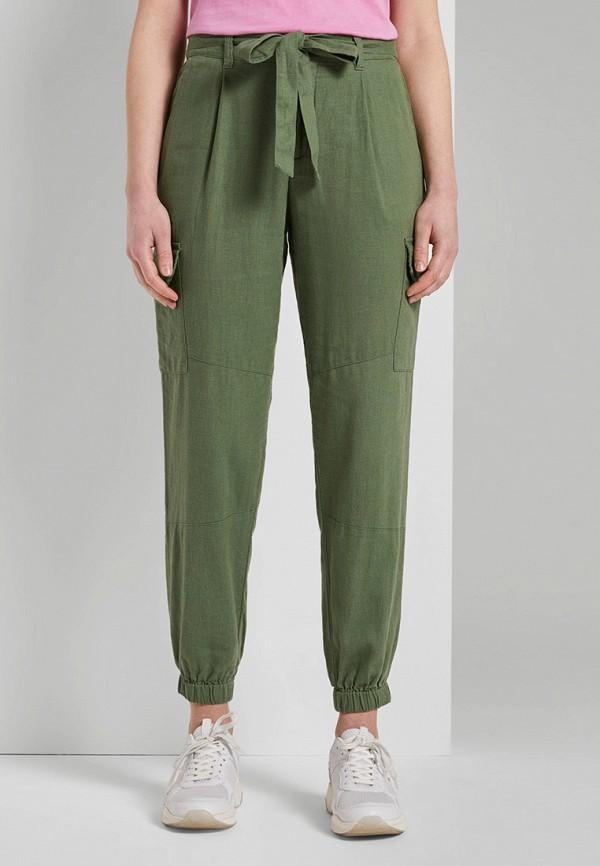 женские брюки tom tailor, зеленые