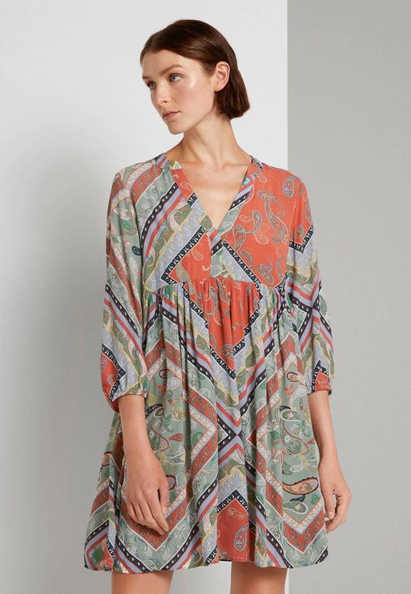 женское повседневные платье tom tailor, разноцветное