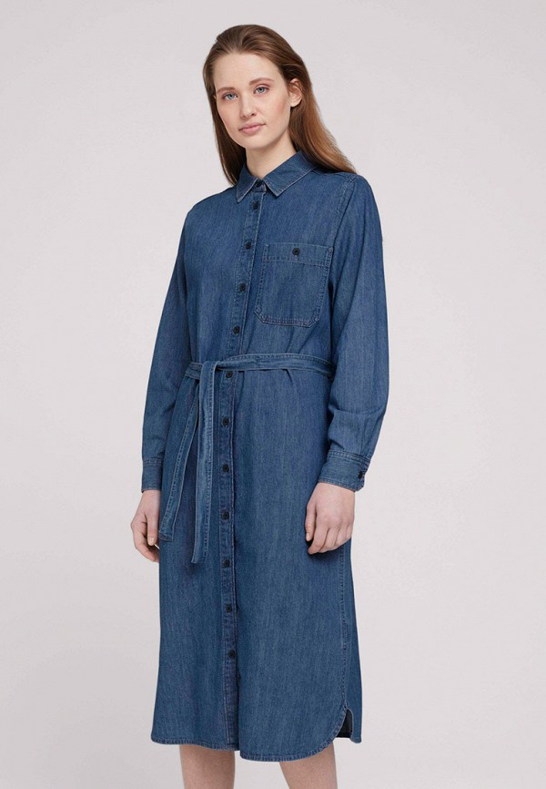 женское джинсовые платье tom tailor