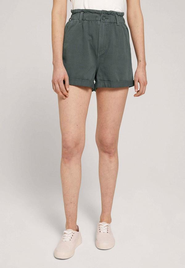 женские повседневные шорты tom tailor, хаки