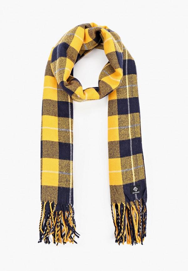 мужской шарф tom tailor, желтый