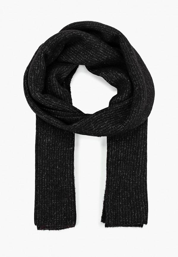 женский шарф tom tailor, черный