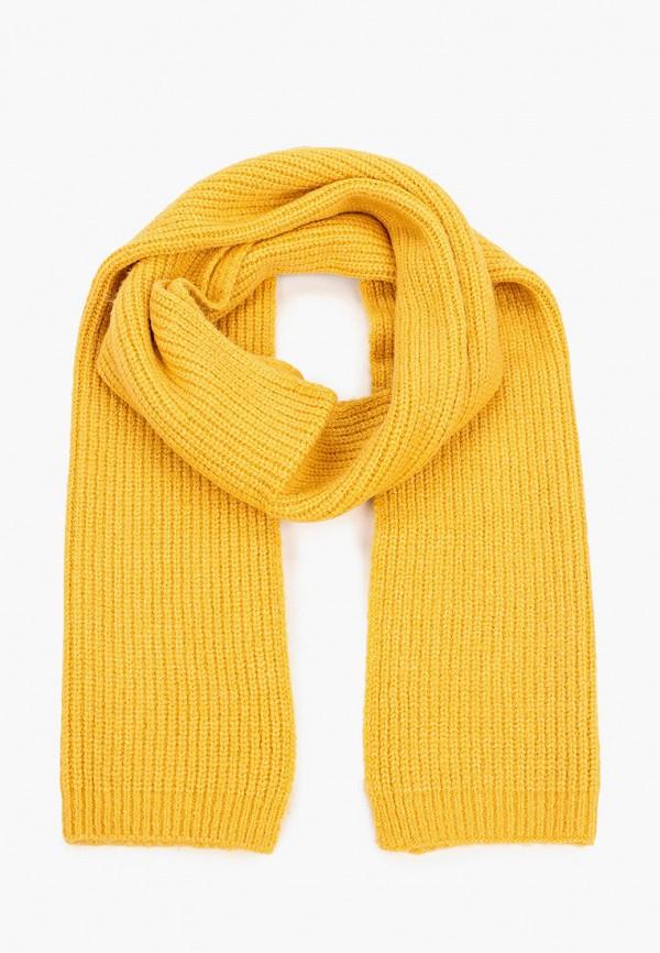 женский шарф tom tailor, желтый