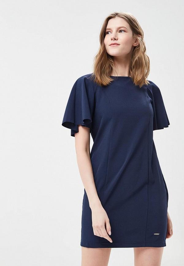 женское платье-футляр top secret, синее