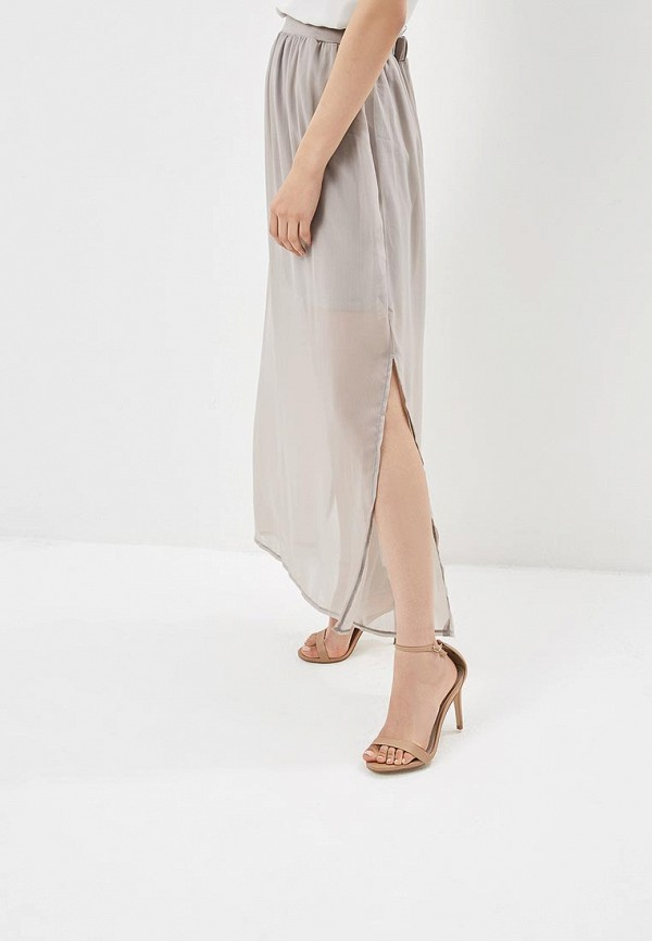женская прямые юбка top secret, серая