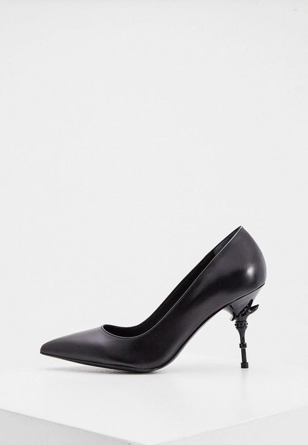 женские туфли-лодочки trussardi, черные