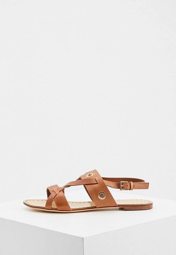 женские сандалии trussardi, коричневые