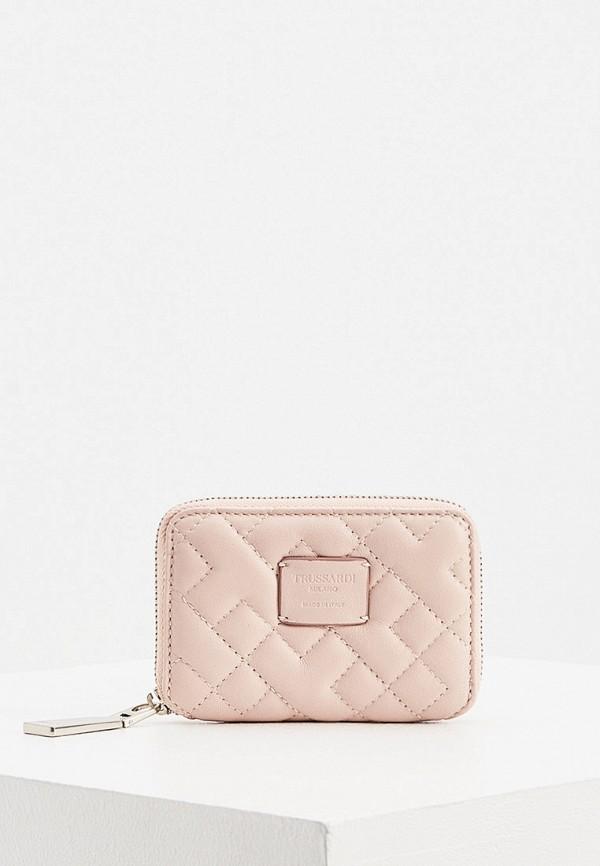 мужской кошелёк trussardi, розовый