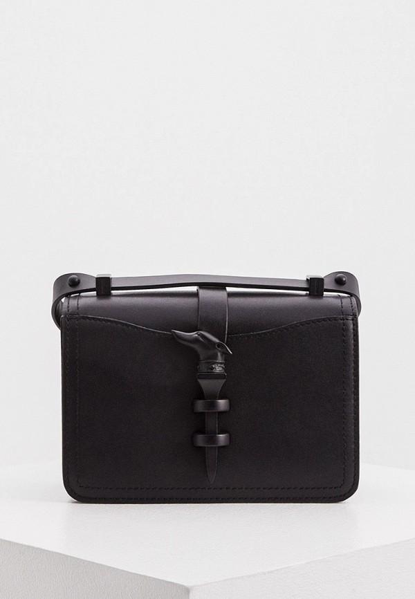 женская сумка через плечо trussardi, черная