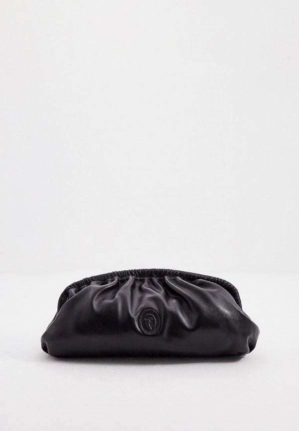 женский клатч trussardi, черный