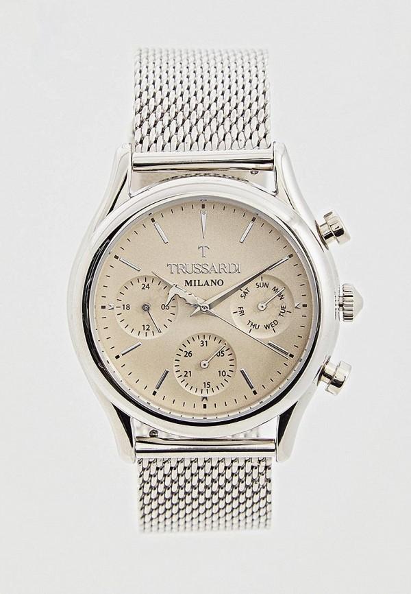 мужские часы trussardi, серебряные