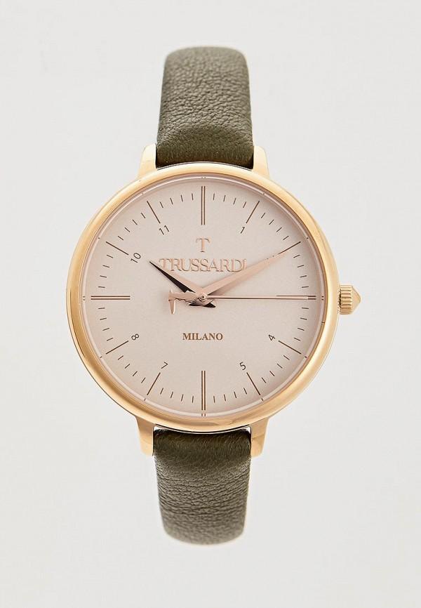 женские часы trussardi, зеленые
