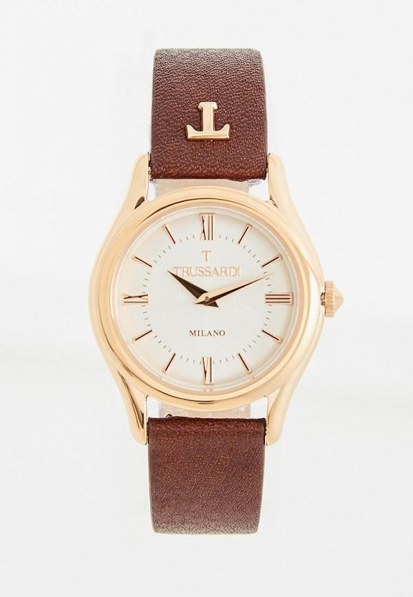 женские часы trussardi, коричневые